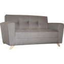 Canapé 2 places fixe en tissu gris-VICKY