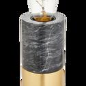 Lampe à poser en marbre gris H18xD7cm-EMMA
