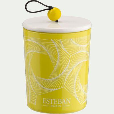 Bougie parfumée rechargeable senteur Terre d'Agrumes 170g-AGRUMES