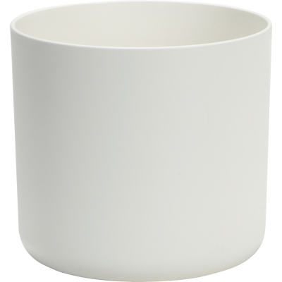 Cache-pot blanc en plastique H15xD16cm-B FOR