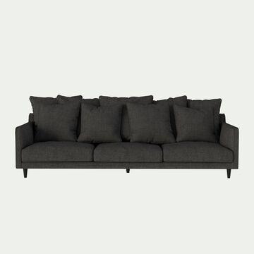 Canapé 6 places fixe en tissu - gris restanque-LENITA