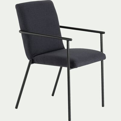 Chaise en tissu avec accoudoirs noir calabrun-JASPE