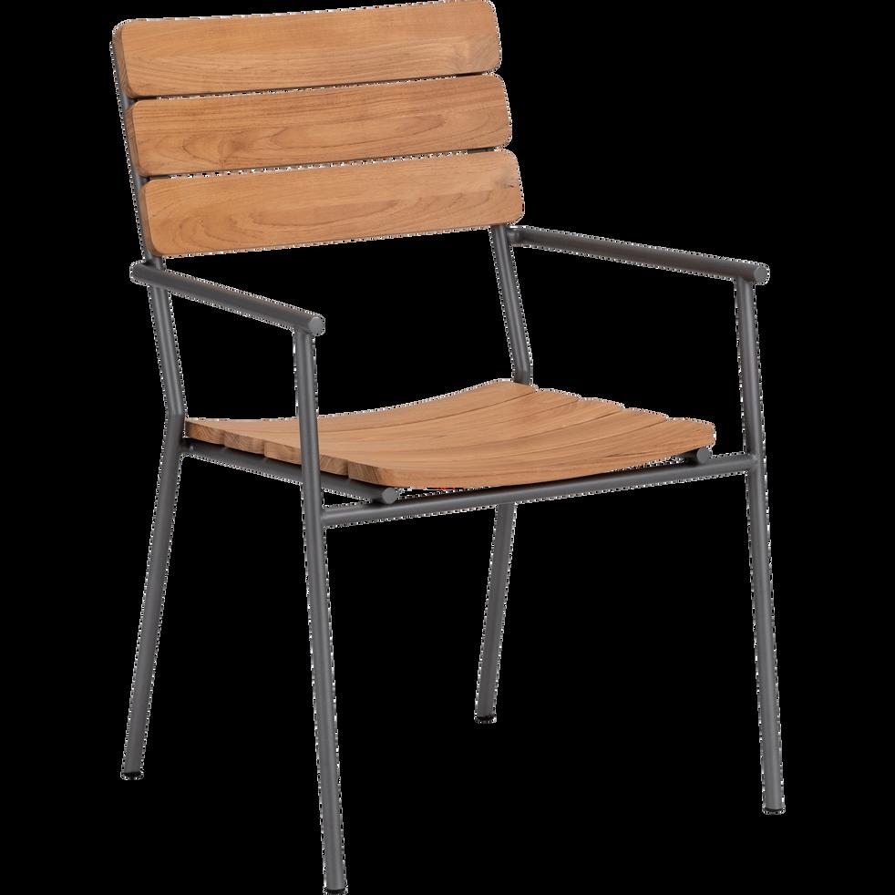 chaise de jardin empilable en m tal et eucalyptus ramatuelle chaises de jardin alinea. Black Bedroom Furniture Sets. Home Design Ideas