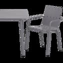 Table de jardin gris restanque en aluminium (6 places)-CENOZA