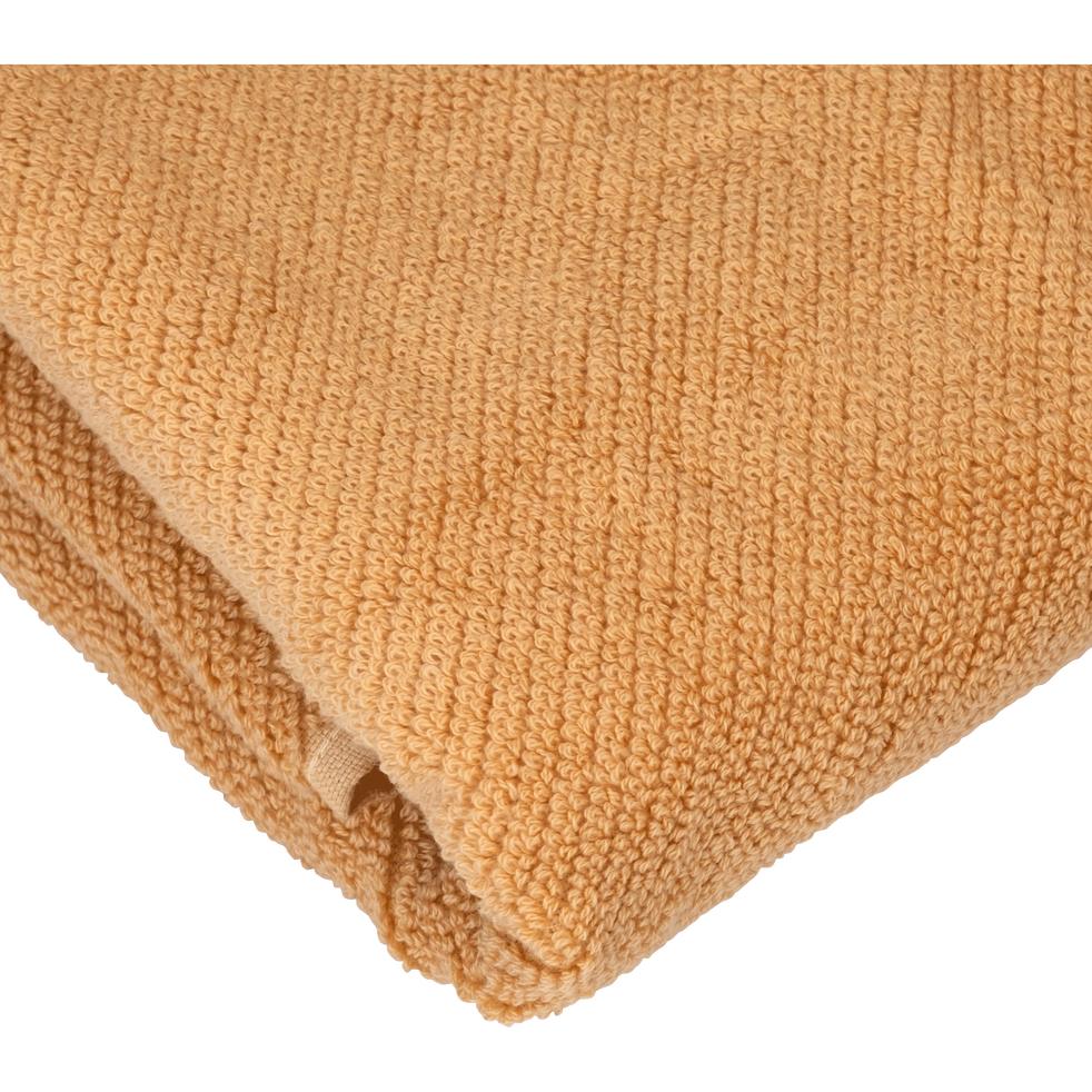 Lot de 2 gants de toilette marron camel-COLINE