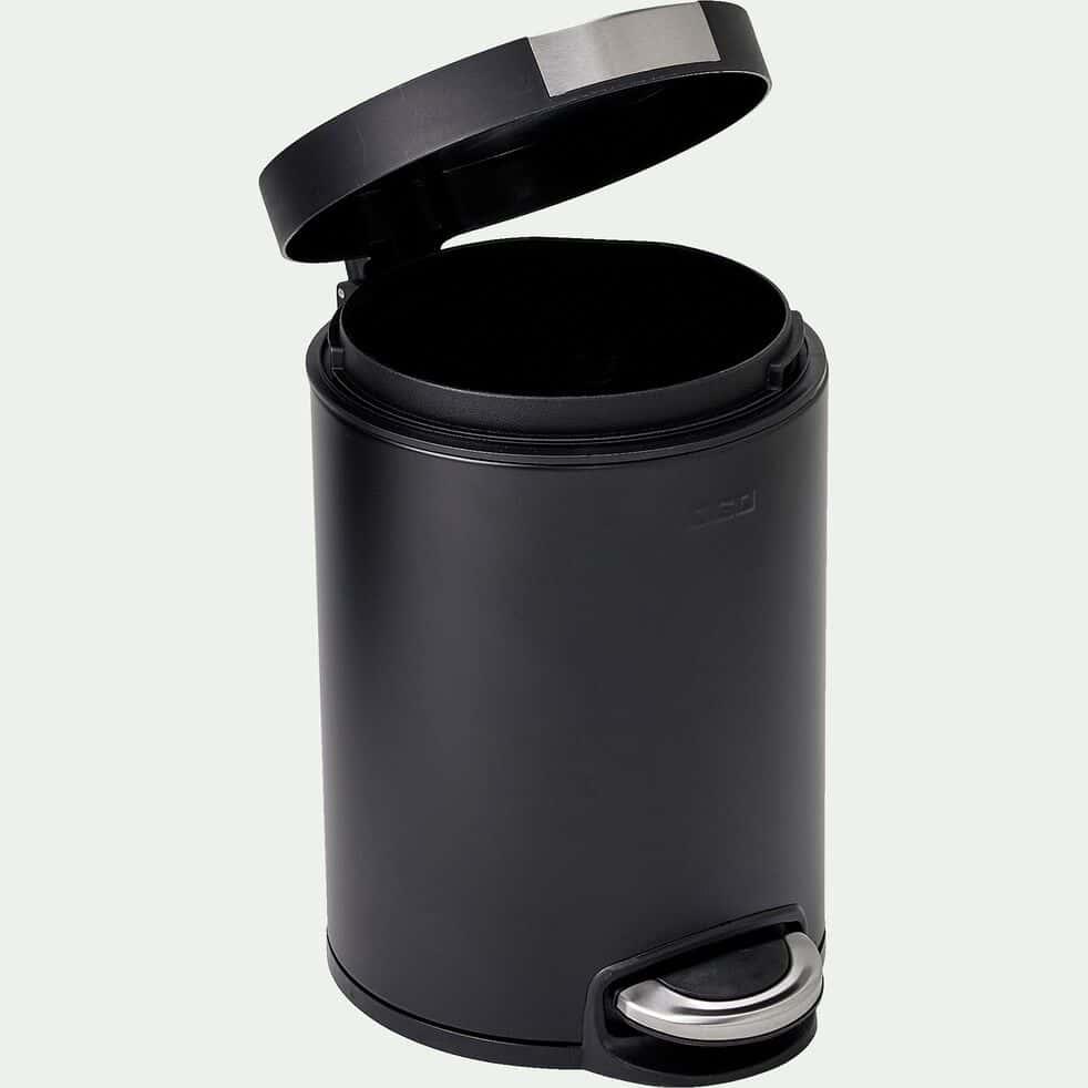 Poubelle à pédale en inox - noir 12L-FANAL