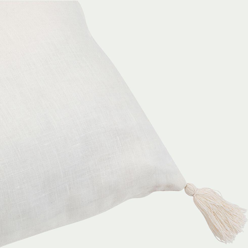 Coussin rectangulaire en lin - l30xL80 blanc ventoux-HORS DU TEMPS