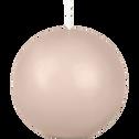 Bougie boule grège-HALBA