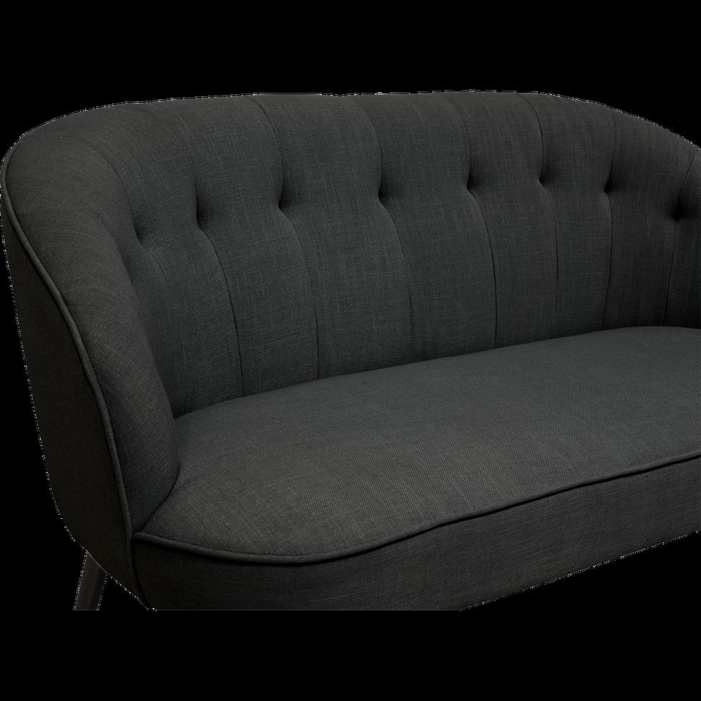 Canapé 2 places fixe en tissu gris calabrun-MARCELLIN