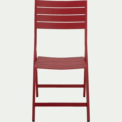 Chaise de jardin pliante en aluminium - rouge sumac-VITOR