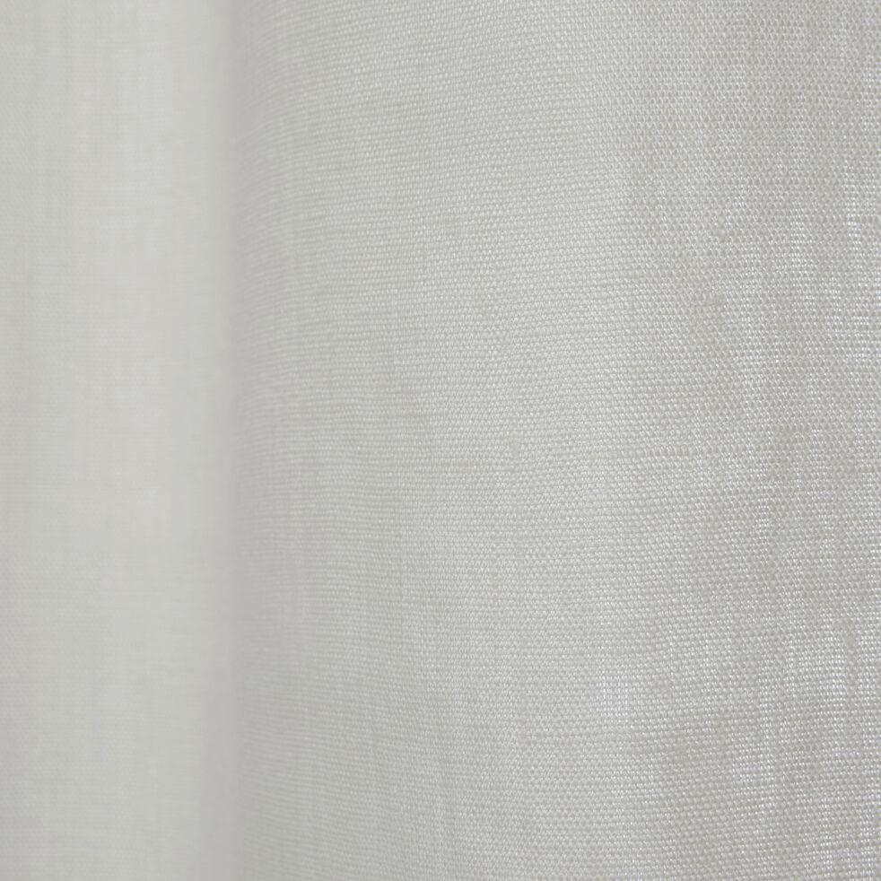 Rideau en lin blanc ventoux 140x300cm-VALLON