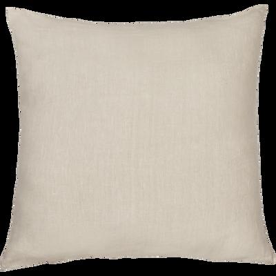 Coussin en lin lavé beige roucas 45x45cm-VENCE