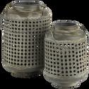 Lanterne en métal H19xD13cm-MEKONG