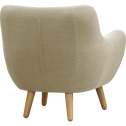 Fauteuil tissu beige-POPPY