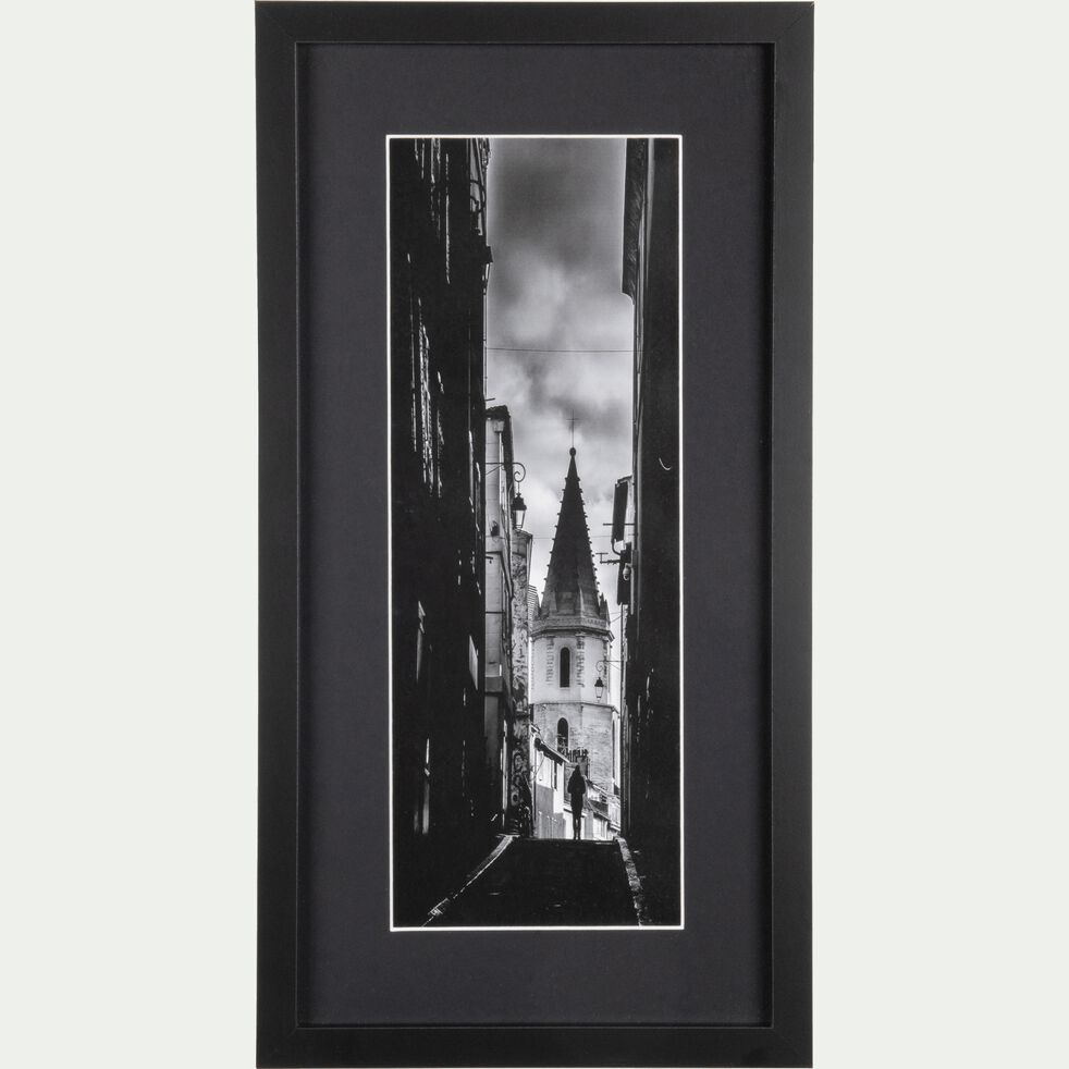 Image encadrée noir et blanc 25x50cm-SYLVA