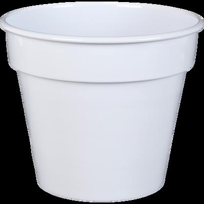 Pot / Cache-pot blanc en fer H17xD19cm-FLORA