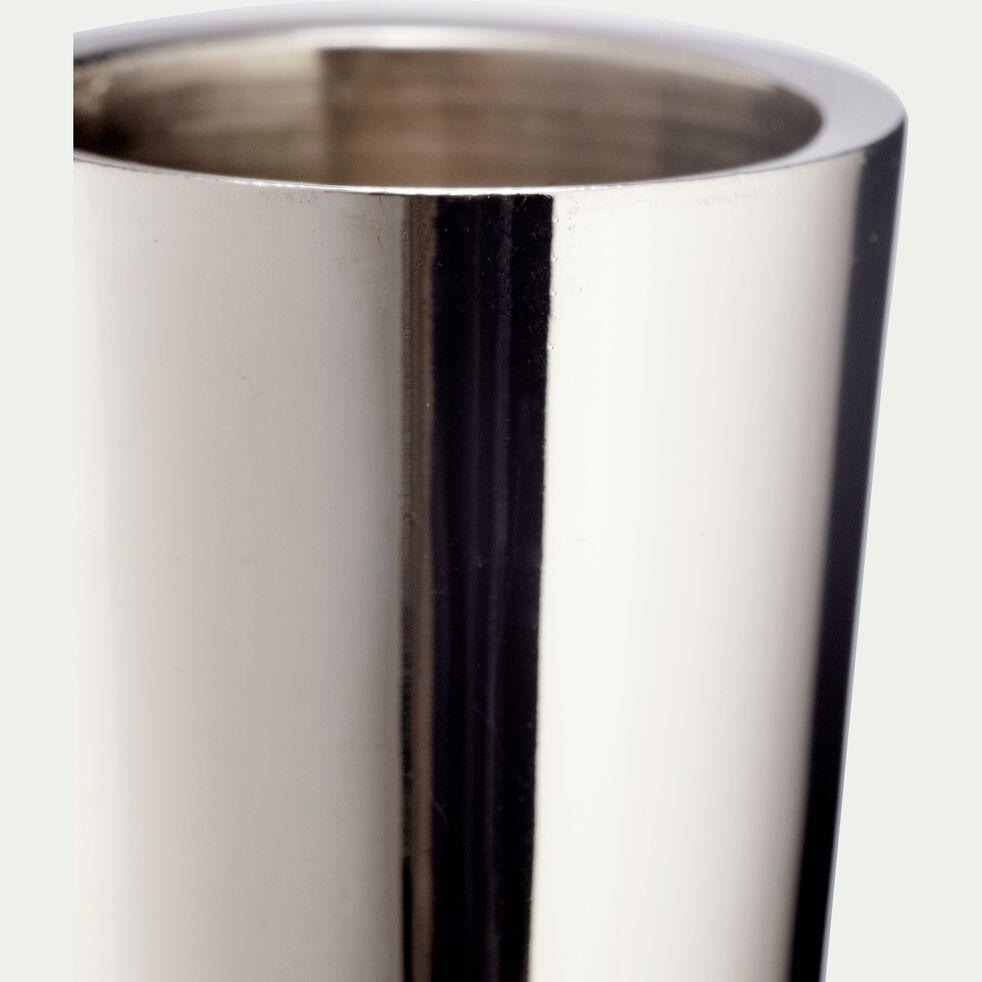 Bougeoir en nickel - argenté H30,5cm-CETI