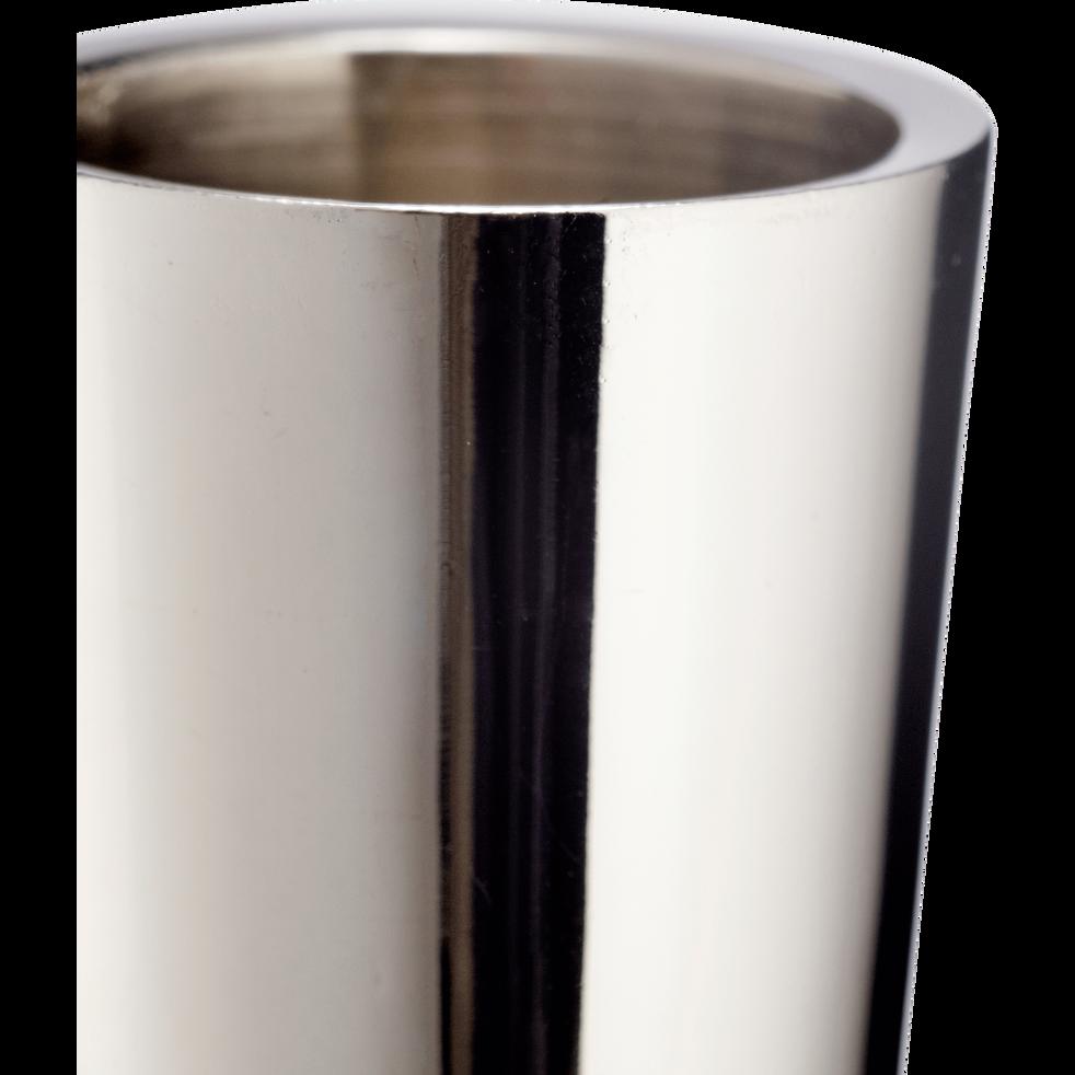 Bougeoir en nickel argenté H30,5cm-CETI