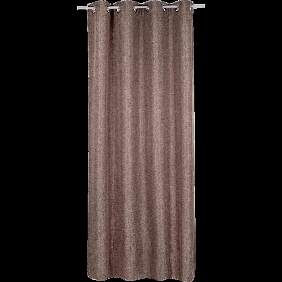rideau thermique marron 140x250cm boston rideaux alinea. Black Bedroom Furniture Sets. Home Design Ideas