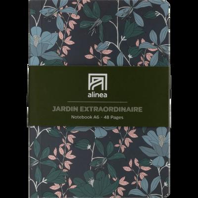 Carnet motif fleurs a6-Jardin extr