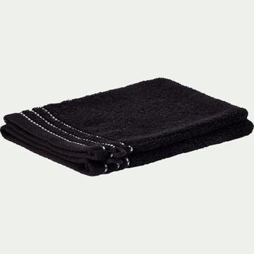 Lot de 2 gants de toilette en coton - noir-Rhodes