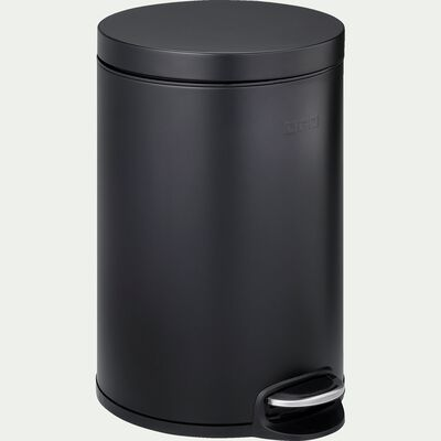Poubelle en plastique - noir 20L-PAVOUN
