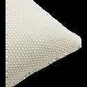 Coussin tricoté en coton blanc ventoux 40x40cm-VERDON