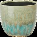 Cache-pot en céramique dégradé D17xH15 cm-Catane