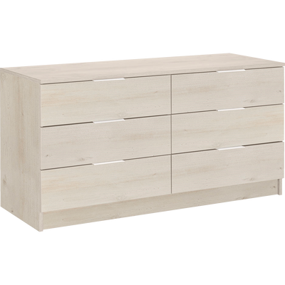 Commode 2x3 tiroirs cerisier blanchi-BROOKLYN