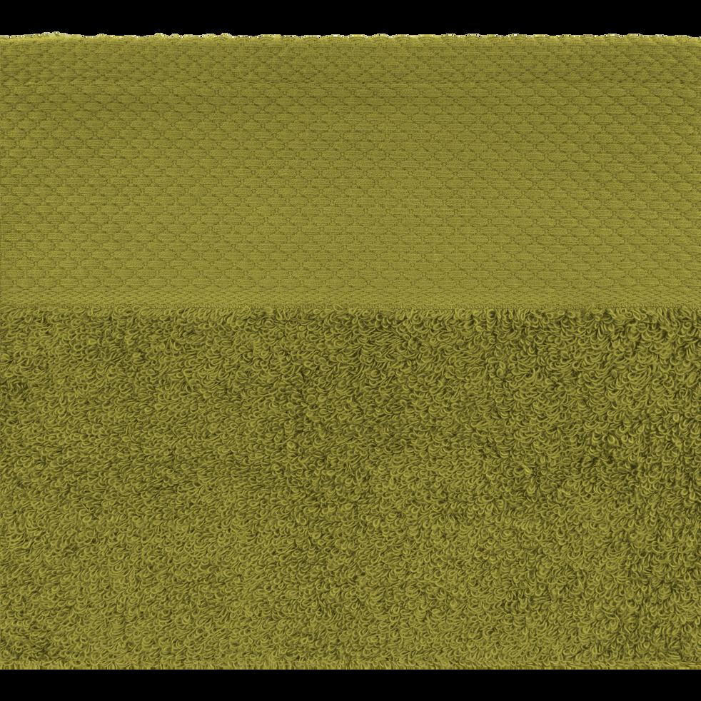 Serviette en coton 50x100cm vert garrigue-AZUR