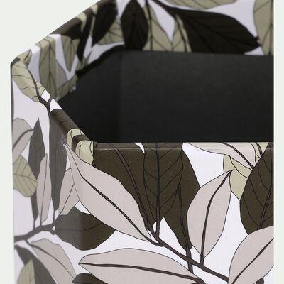 Pot à crayon en carton motif laurier-LAURIER