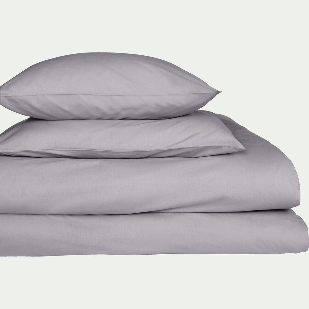 Lot de 2 taies d'oreiller en coton - gris restanque 65x65cm-CALANQUES