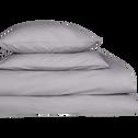 Lot de 2 taies d'oreiller en coton Gris restanque - carré 65x65 cm-CALANQUES