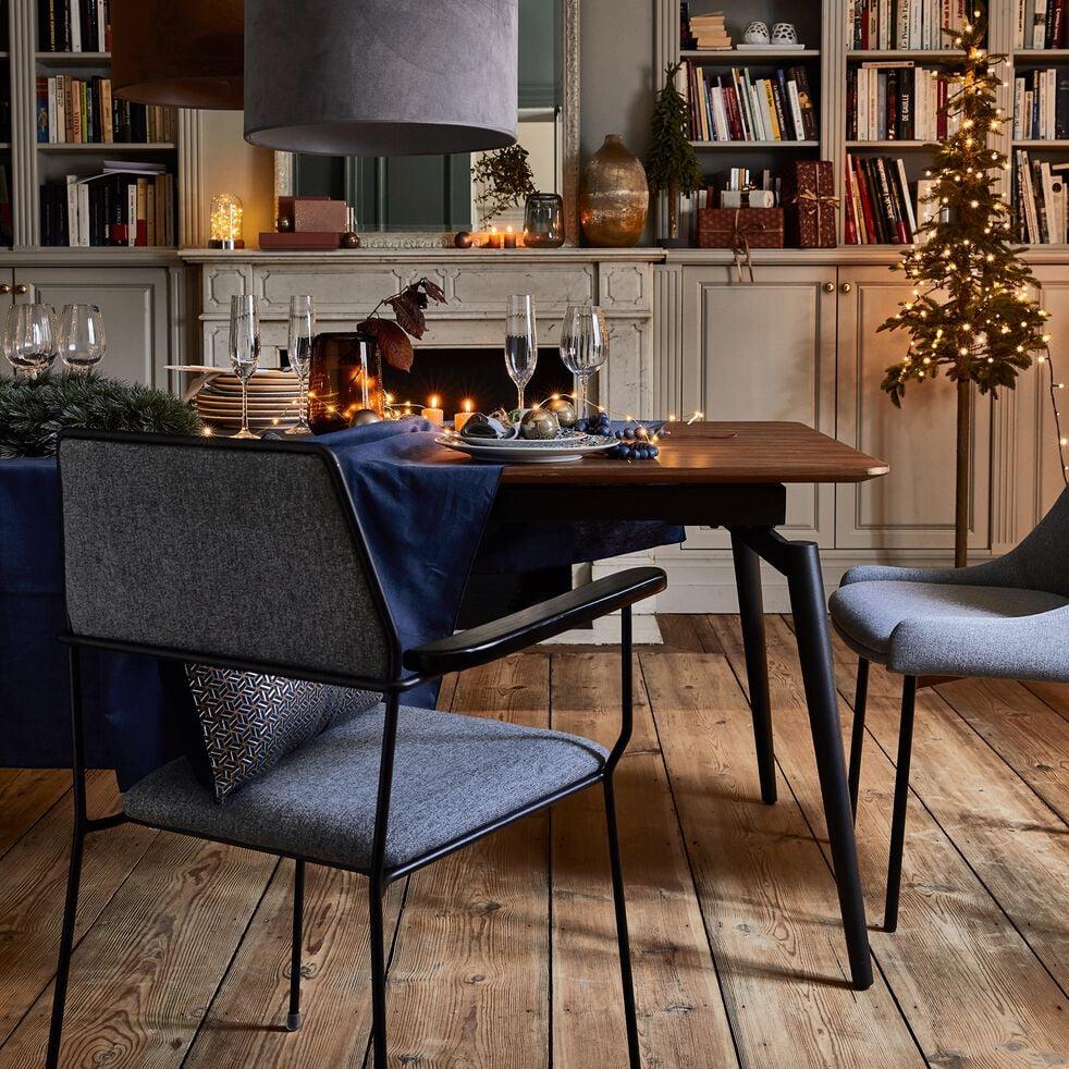Chaise en tissu avec accoudoirs gris borie-INSTINCT
