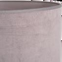Suspension non électrifiée en velours gris restanque D40cm-VELOURS