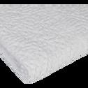 Serviette de toilette blanc ventoux en coton nid d'abeille-CLEMATIS