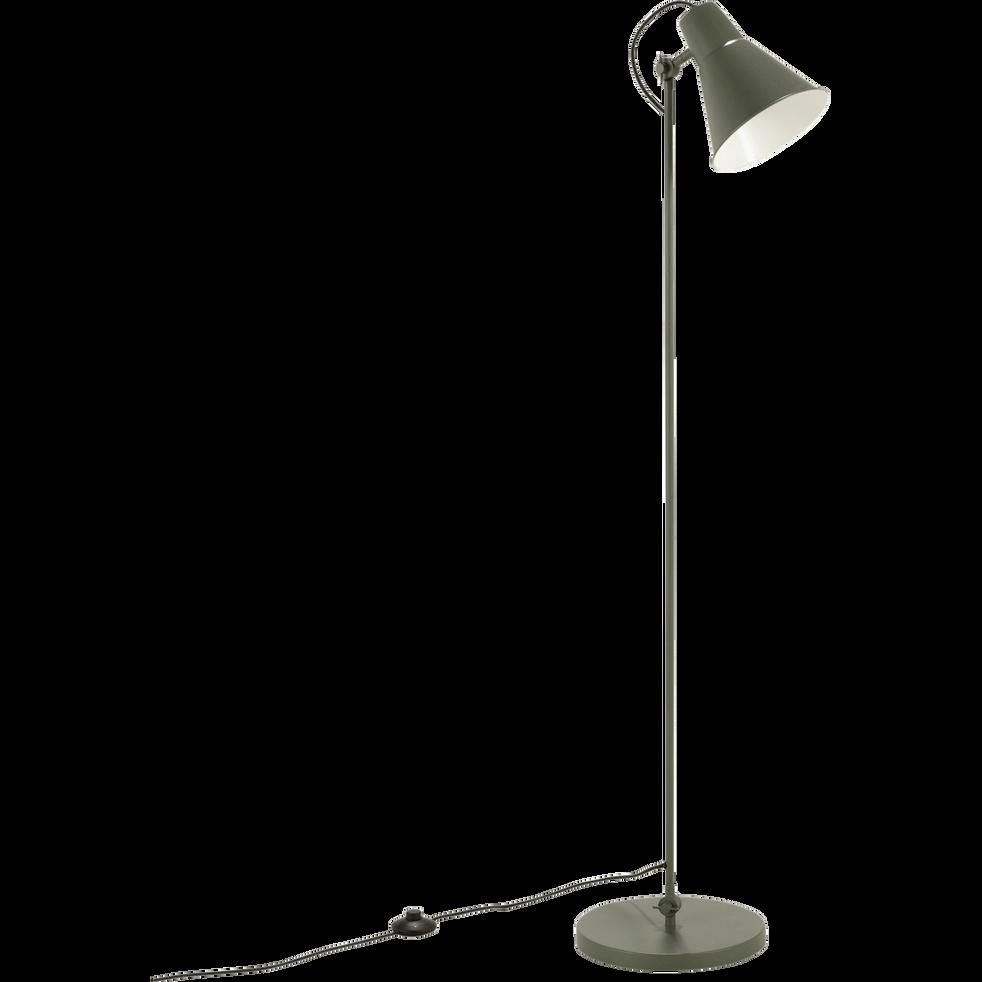 Lampadaire en métal vert cèdre H140cm-BEYA
