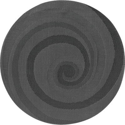 Set de table rond gris anthracite D38cm-SPIRAL
