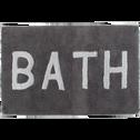 Tapis de bain en coton gris 50x80cm-BATH2