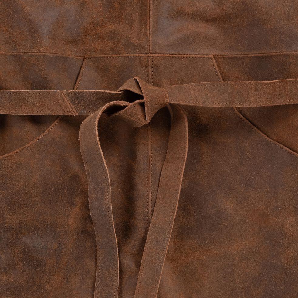 Tablier en cuir pour jardinage - marron-LANTANA