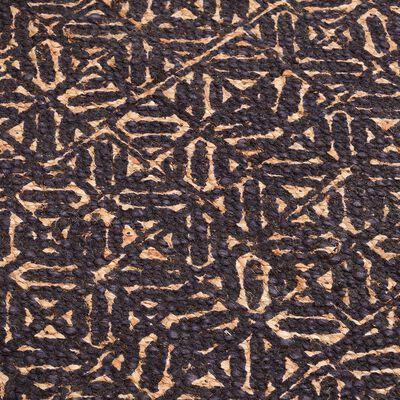 Tapis tissé en jute à motifs bleu figuerolles 120x170cm-MIA