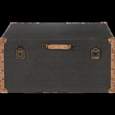 Malle de rangement noire L60xl38cm-CARLONE