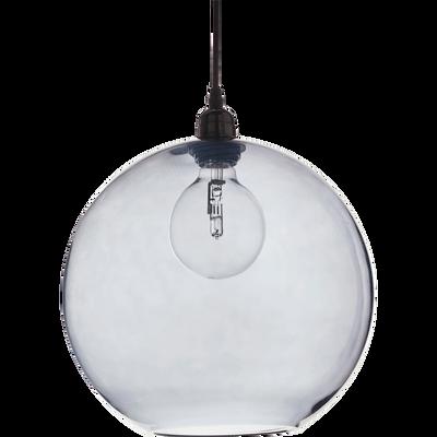 Suspension en verre gris H27xD20cm-BRONX