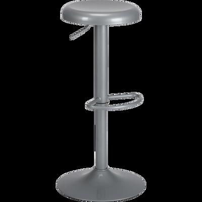 Tabouret ajustable en métal gris restanque H59 à 81cm-CORIS