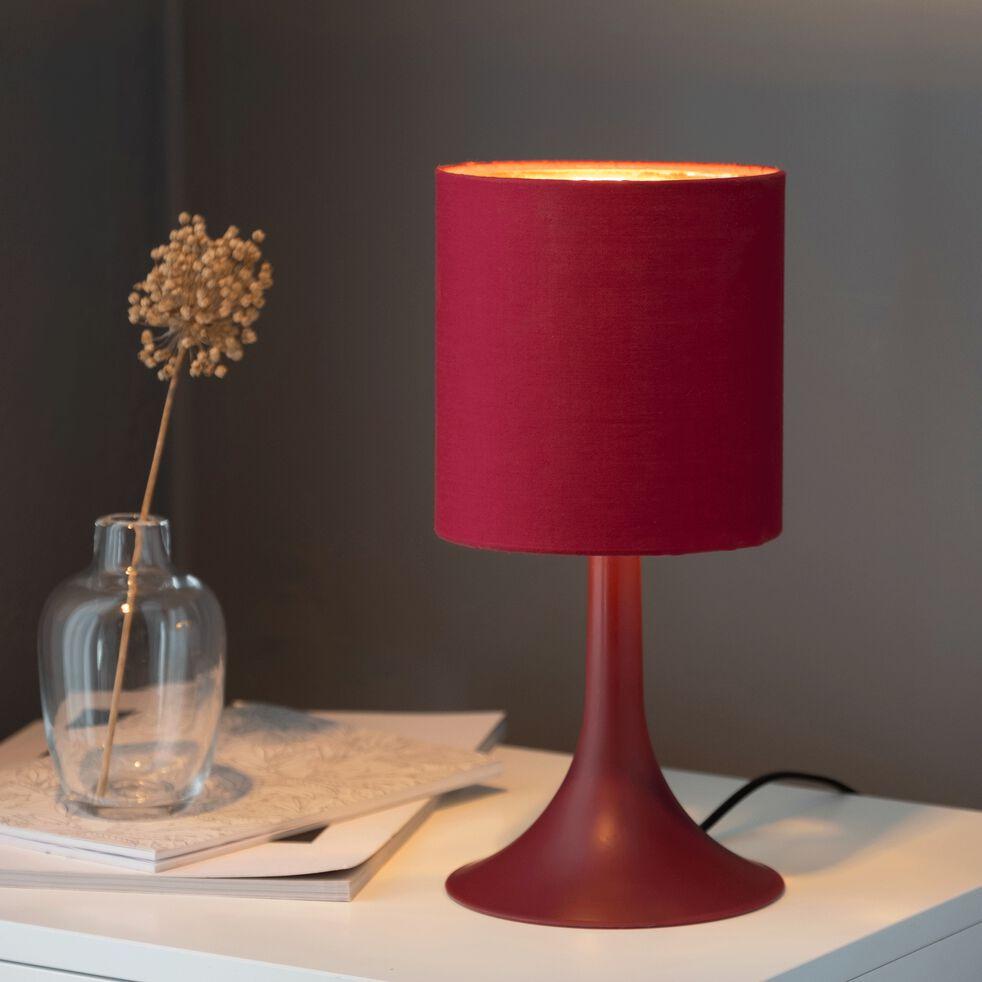 Lampe à poser rouge sumac H27cm-FIRST