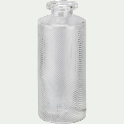 Vase en verre transparent forme bouteille H13 cm-Zante
