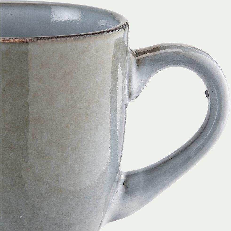 Tasse et soucoupe en grès bleu 40cl-ADAM