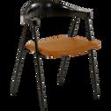 Chaise rétro avec accoudoirs noirs-CHARLOTTE