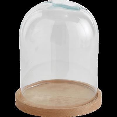 Cloche en verre transparent h23cm-LAGUNE