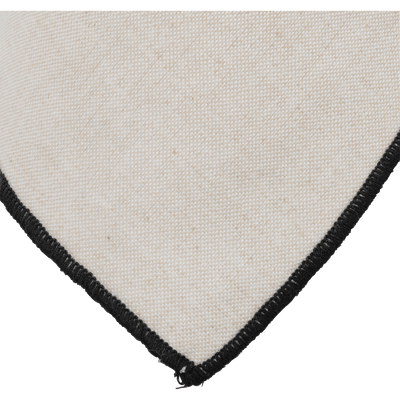 Torchon en coton blanc et noir-LINIA